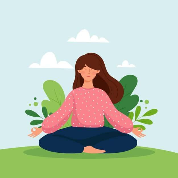 meditation concept illustration 23 2148535431